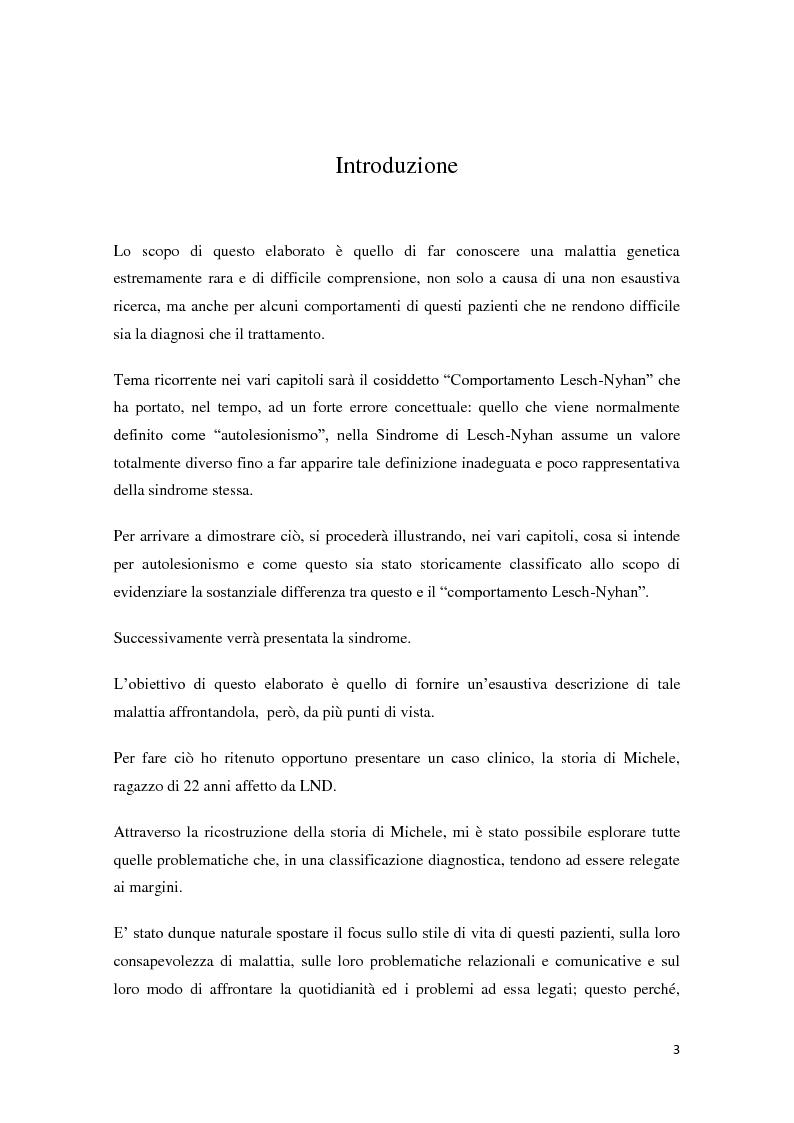 Anteprima della tesi: Il fenomeno dell'autolesionismo nella Sindrome di Lesch-Nyhan , Pagina 2