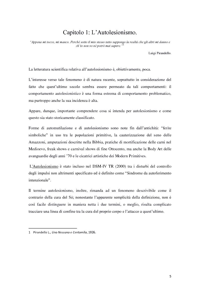 Anteprima della tesi: Il fenomeno dell'autolesionismo nella Sindrome di Lesch-Nyhan , Pagina 4