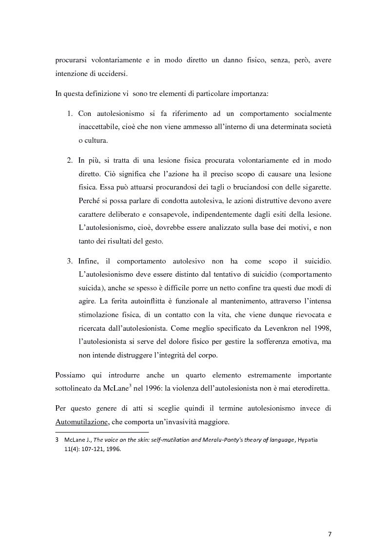 Anteprima della tesi: Il fenomeno dell'autolesionismo nella Sindrome di Lesch-Nyhan , Pagina 6