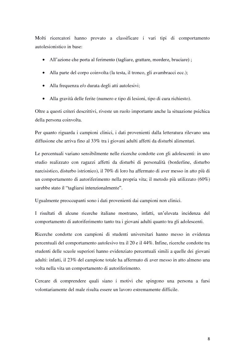 Anteprima della tesi: Il fenomeno dell'autolesionismo nella Sindrome di Lesch-Nyhan , Pagina 7
