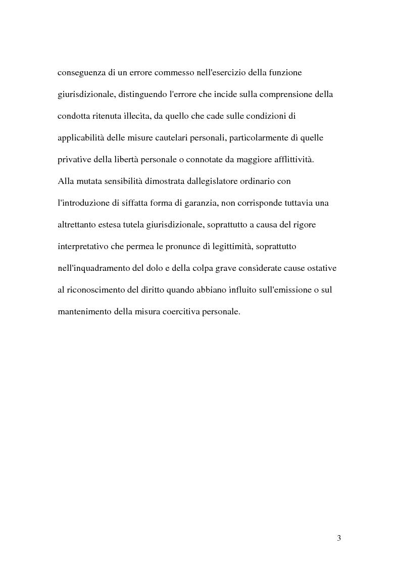 Anteprima della tesi: La riparazione per ingiusta detenzione, Pagina 3