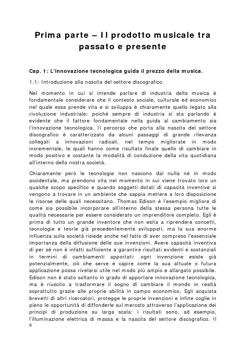 Anteprima della tesi: Il prodotto musicale tra industria e artigianato, Pagina 2