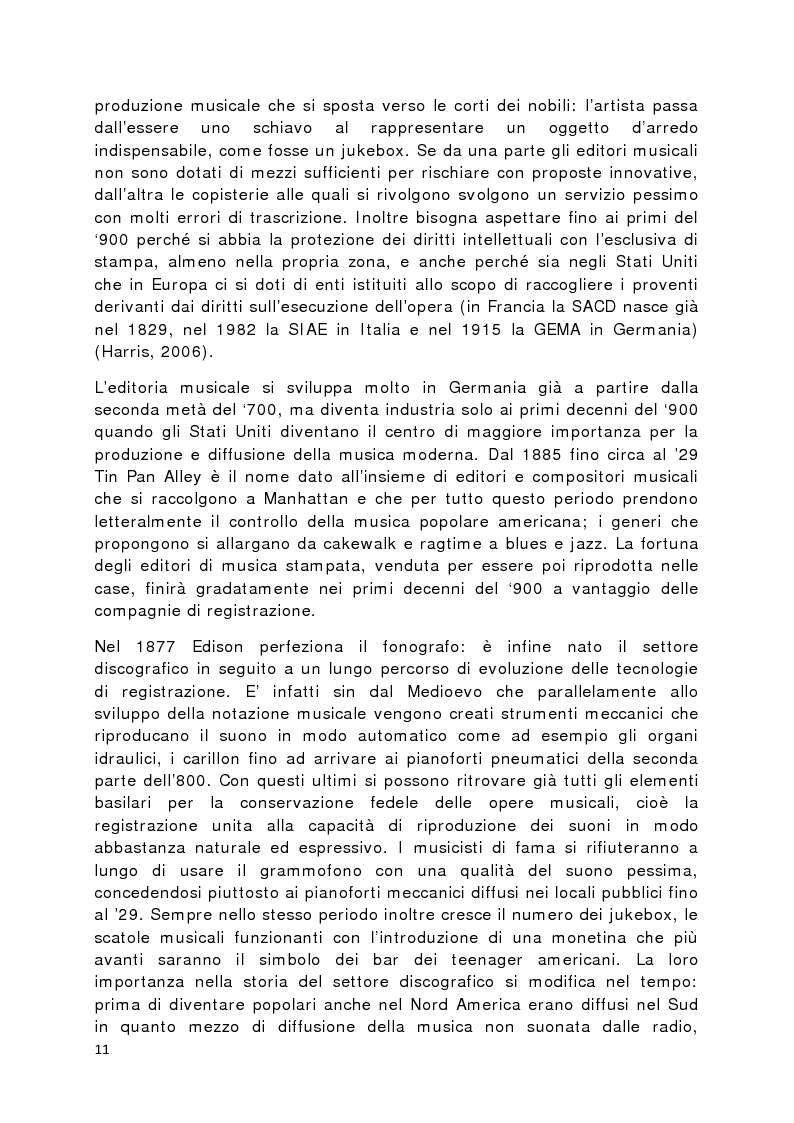 Anteprima della tesi: Il prodotto musicale tra industria e artigianato, Pagina 4