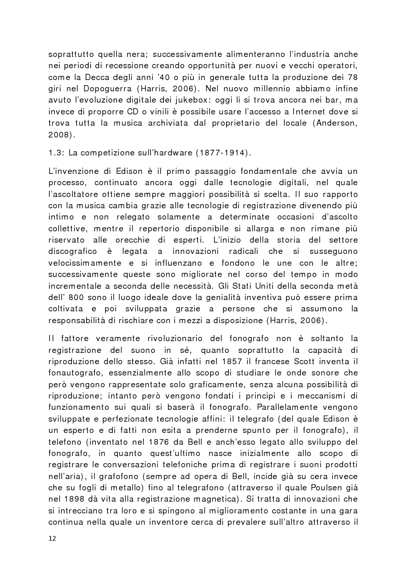 Anteprima della tesi: Il prodotto musicale tra industria e artigianato, Pagina 5