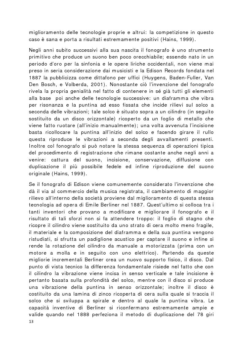 Anteprima della tesi: Il prodotto musicale tra industria e artigianato, Pagina 6
