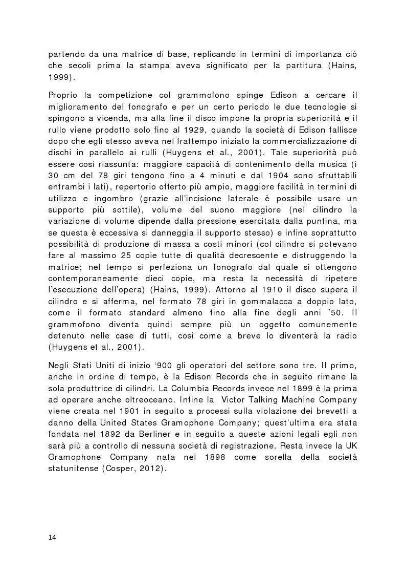 Anteprima della tesi: Il prodotto musicale tra industria e artigianato, Pagina 7