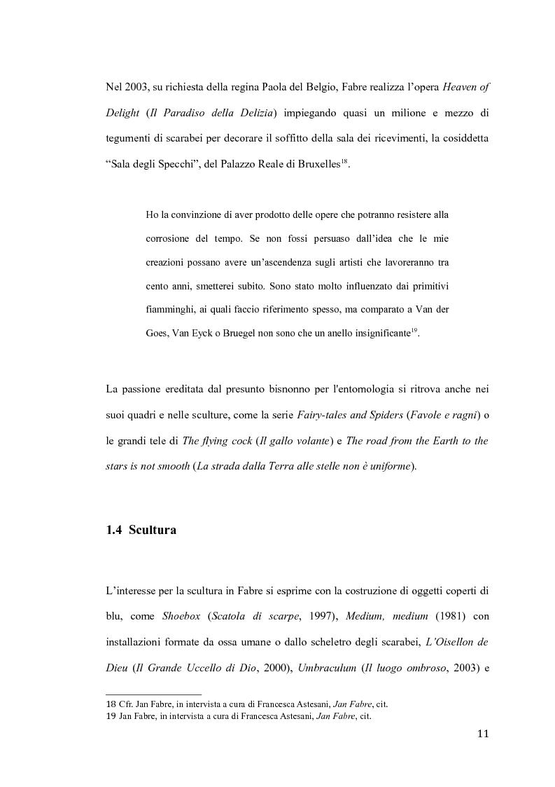 Anteprima della tesi: Il pensiero e il teatro di Jan Fabre, Pagina 8
