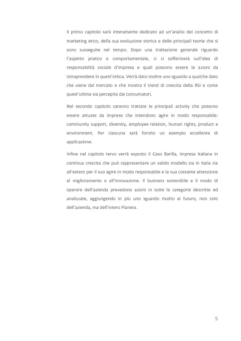 Anteprima della tesi: Come creare valore attraverso la sostenibilità. Il caso Barilla., Pagina 3