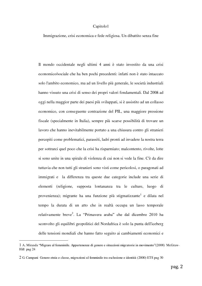 Anteprima della tesi: Migrazioni femminili in Sicilia, l'importanza delle tradizioni nell'integrazione interculturale, Pagina 2
