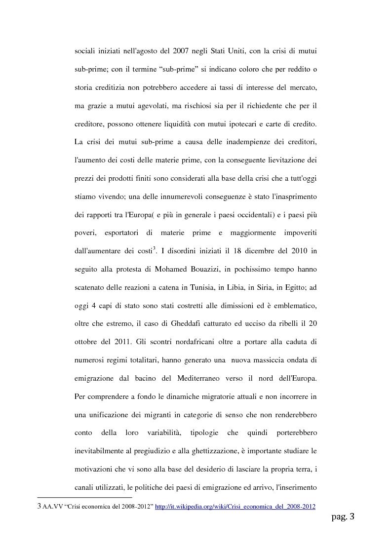 Anteprima della tesi: Migrazioni femminili in Sicilia, l'importanza delle tradizioni nell'integrazione interculturale, Pagina 3