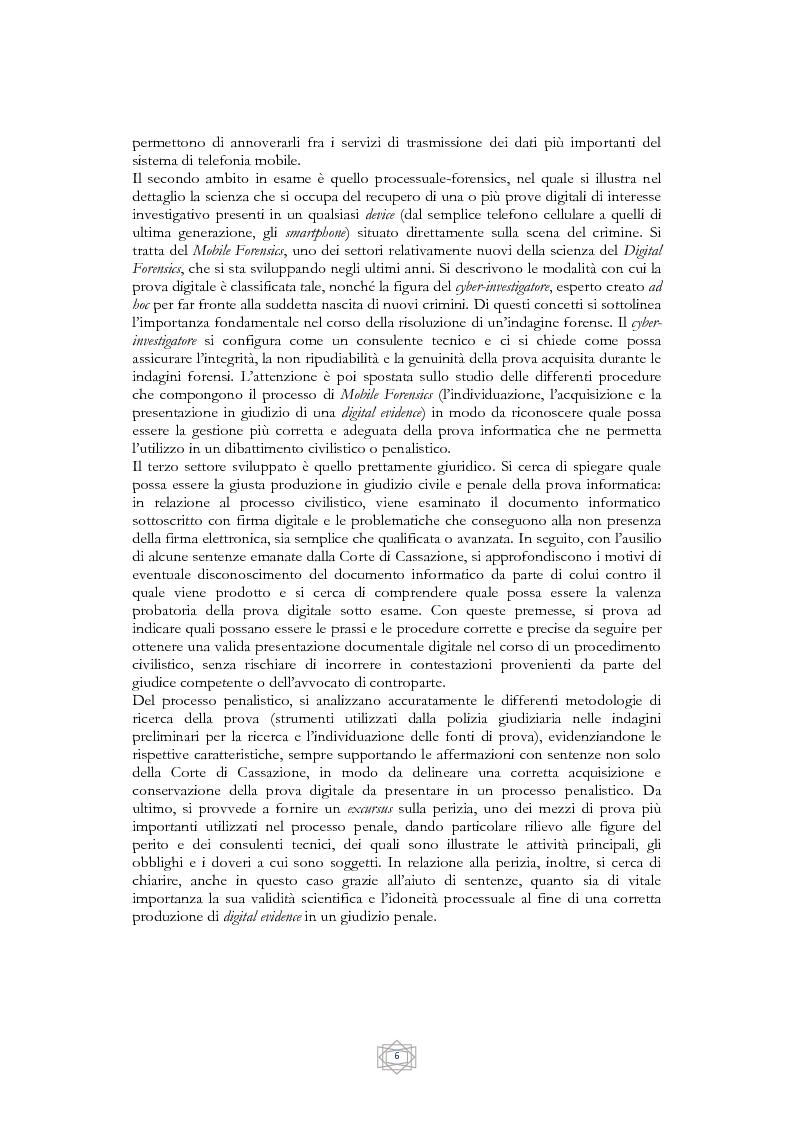 Anteprima della tesi: Problematiche informatico-giuridiche degli SMS e degli MMS, Pagina 3