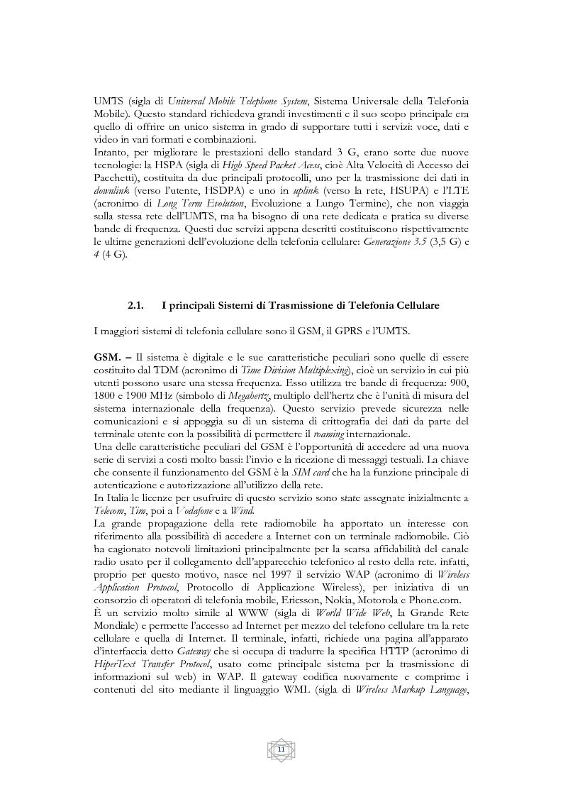 Anteprima della tesi: Problematiche informatico-giuridiche degli SMS e degli MMS, Pagina 8