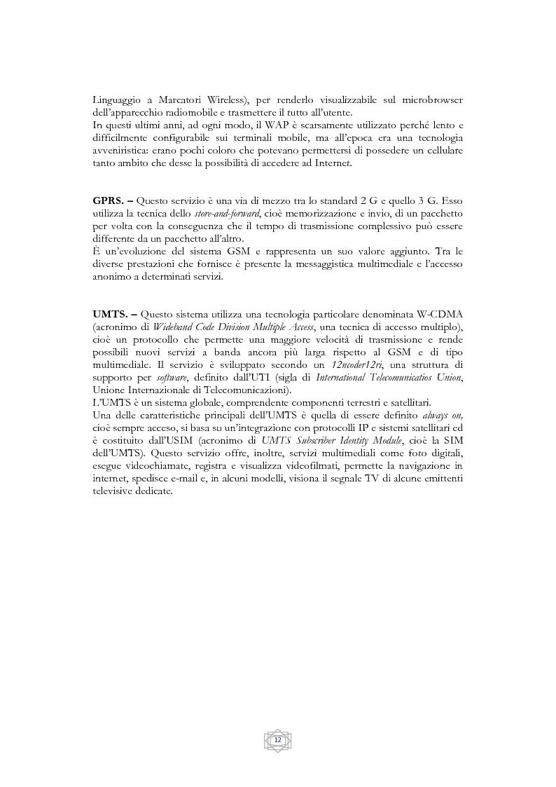 Anteprima della tesi: Problematiche informatico-giuridiche degli SMS e degli MMS, Pagina 9
