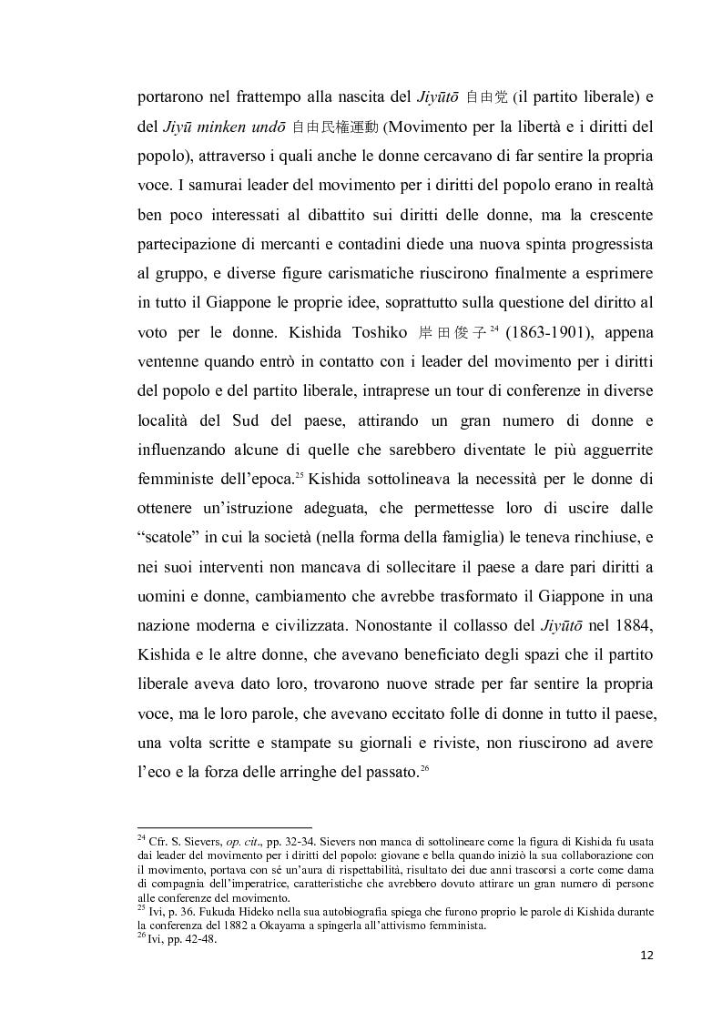 Anteprima della tesi: Corpo di donna, voci di donna. Strategie di emancipazione nella letteratura femminile giapponese moderna, Pagina 13