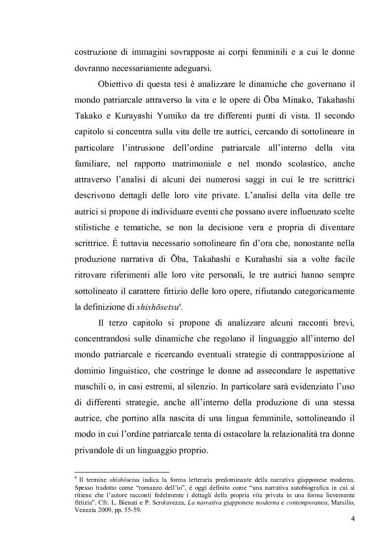 Anteprima della tesi: Corpo di donna, voci di donna. Strategie di emancipazione nella letteratura femminile giapponese moderna, Pagina 5