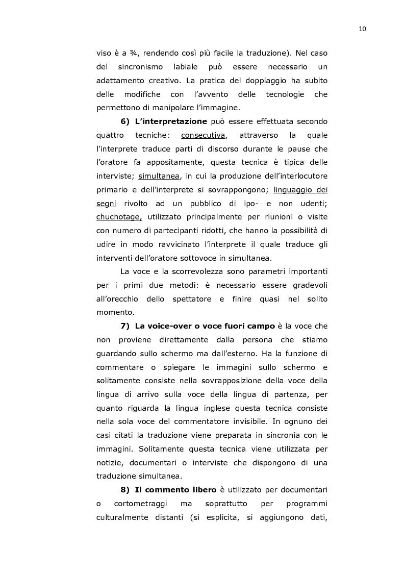 """Anteprima della tesi: Traduzione audiovisa di alcune scene rilevanti dell'opera cinematografica """"Agua con sal"""" del regista spagnolo Pedro Pérez Rosado, Pagina 5"""
