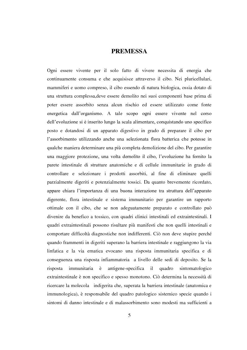 Anteprima della tesi: Reazioni avverse agli alimenti: la sensibilità al glutine. Le nuove ipotesi scientifiche e il ruolo dell'infermiere nell'educazione terapeutica del paziente., Pagina 2
