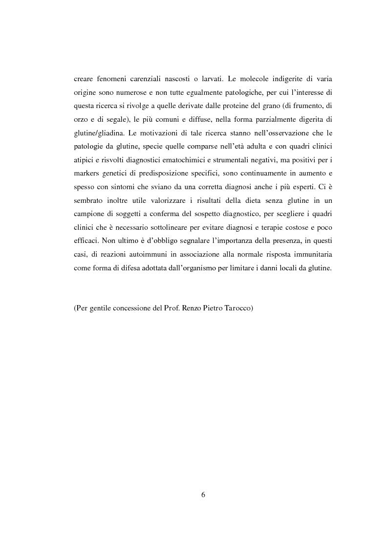 Anteprima della tesi: Reazioni avverse agli alimenti: la sensibilità al glutine. Le nuove ipotesi scientifiche e il ruolo dell'infermiere nell'educazione terapeutica del paziente., Pagina 3