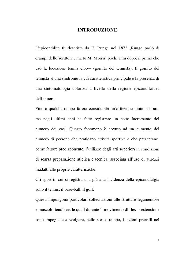 Anteprima della tesi: Il trattamento riabilitativo dell'epicondilite, Pagina 2