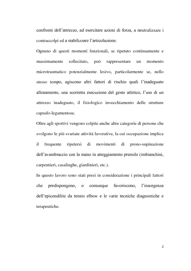 Anteprima della tesi: Il trattamento riabilitativo dell'epicondilite, Pagina 3