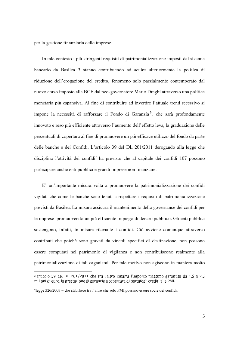 Anteprima della tesi: Ambito operativo, evoluzione strategica e modello distributivo dei confidi, Pagina 4