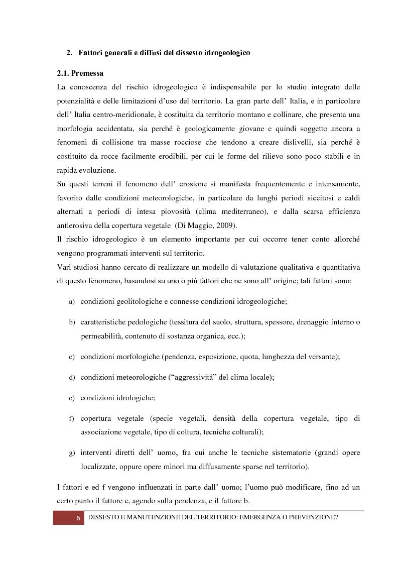 Anteprima della tesi: Dissesto e manutenzione del territorio: emergenza o prevenzione?, Pagina 2