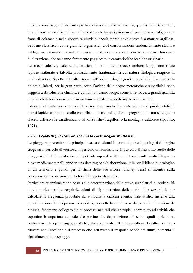 Anteprima della tesi: Dissesto e manutenzione del territorio: emergenza o prevenzione?, Pagina 6