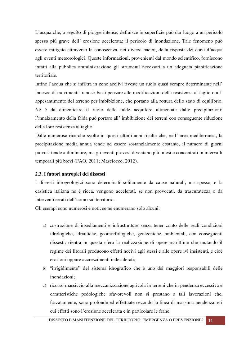 Anteprima della tesi: Dissesto e manutenzione del territorio: emergenza o prevenzione?, Pagina 7