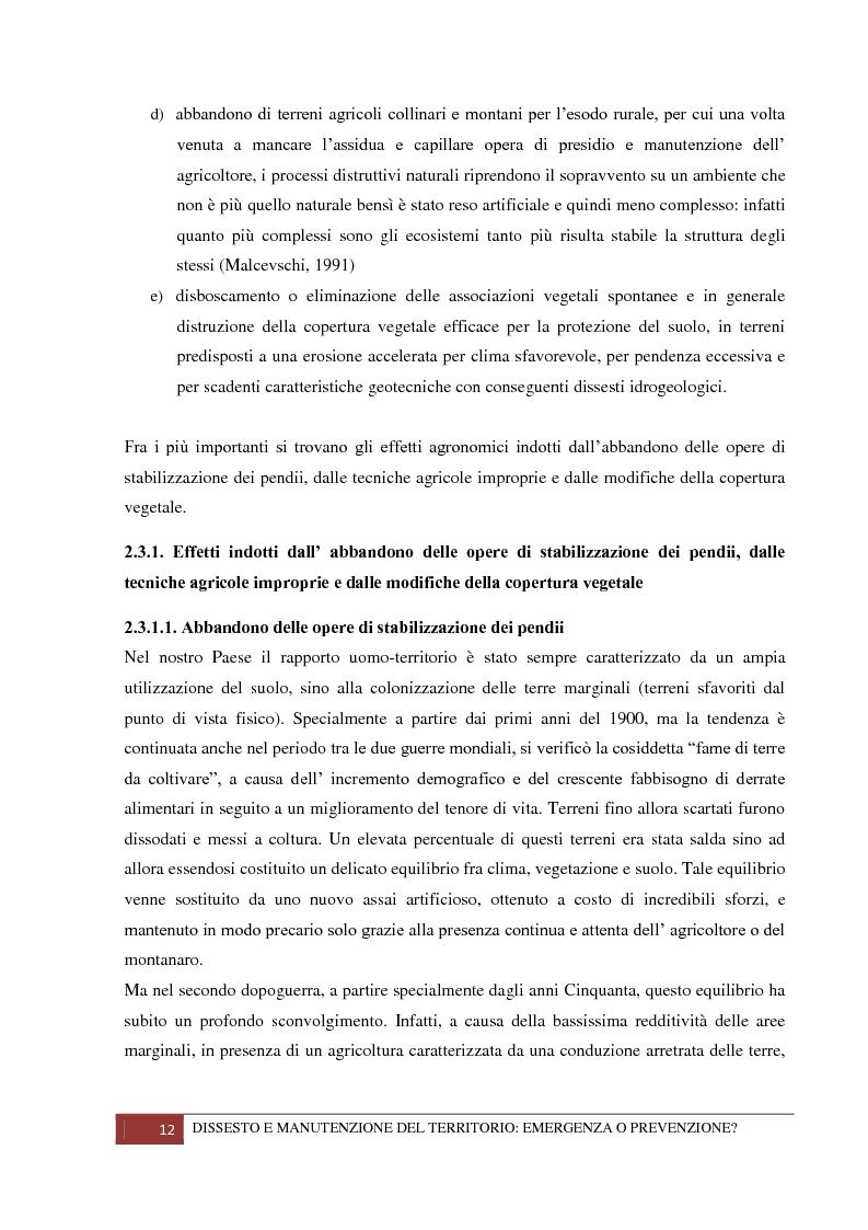 Anteprima della tesi: Dissesto e manutenzione del territorio: emergenza o prevenzione?, Pagina 8