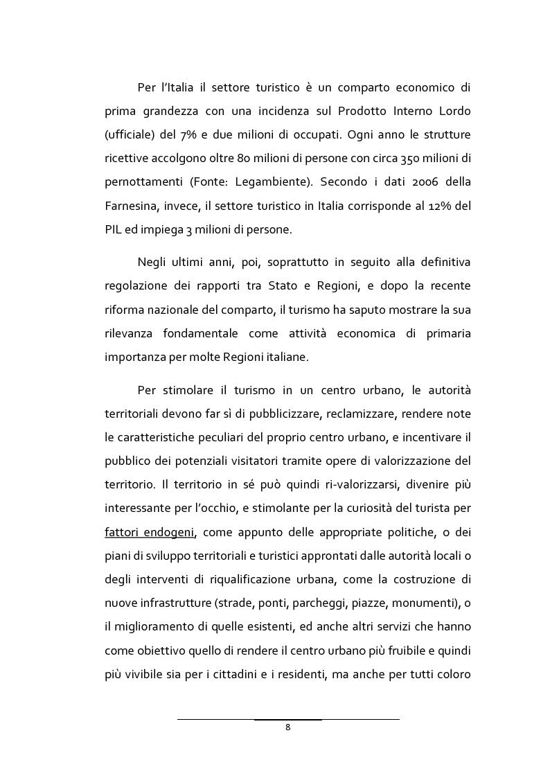 Anteprima della tesi: Il turismo urbano in provincia di Ragusa: l'organizzazione multipolare delle risorse per la competitività turistica del territorio, Pagina 6