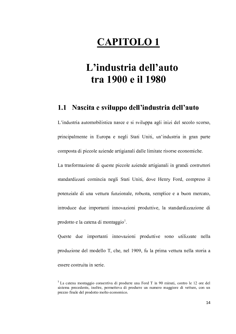 Anteprima della tesi: L'Industria dell'auto tra passato e futuro: strategia di innovazione e cooperazione, Pagina 11