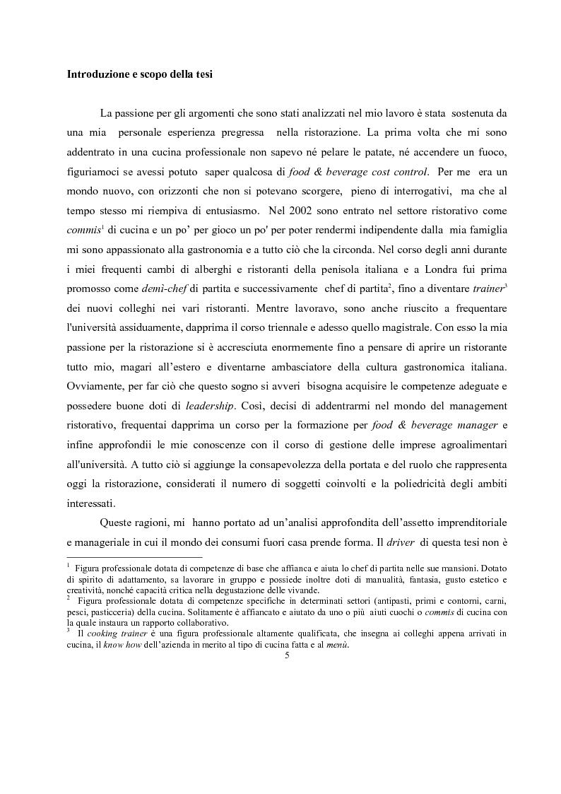 Anteprima della tesi: IL governo di un'impresa di ristorazione: il ruolo del Gastronomo nell'azienda ''Ombre Rosse'', Pagina 2