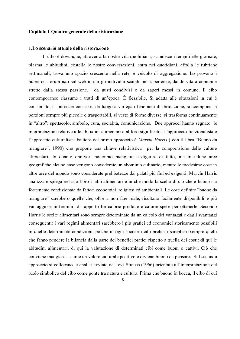 Anteprima della tesi: IL governo di un'impresa di ristorazione: il ruolo del Gastronomo nell'azienda ''Ombre Rosse'', Pagina 5