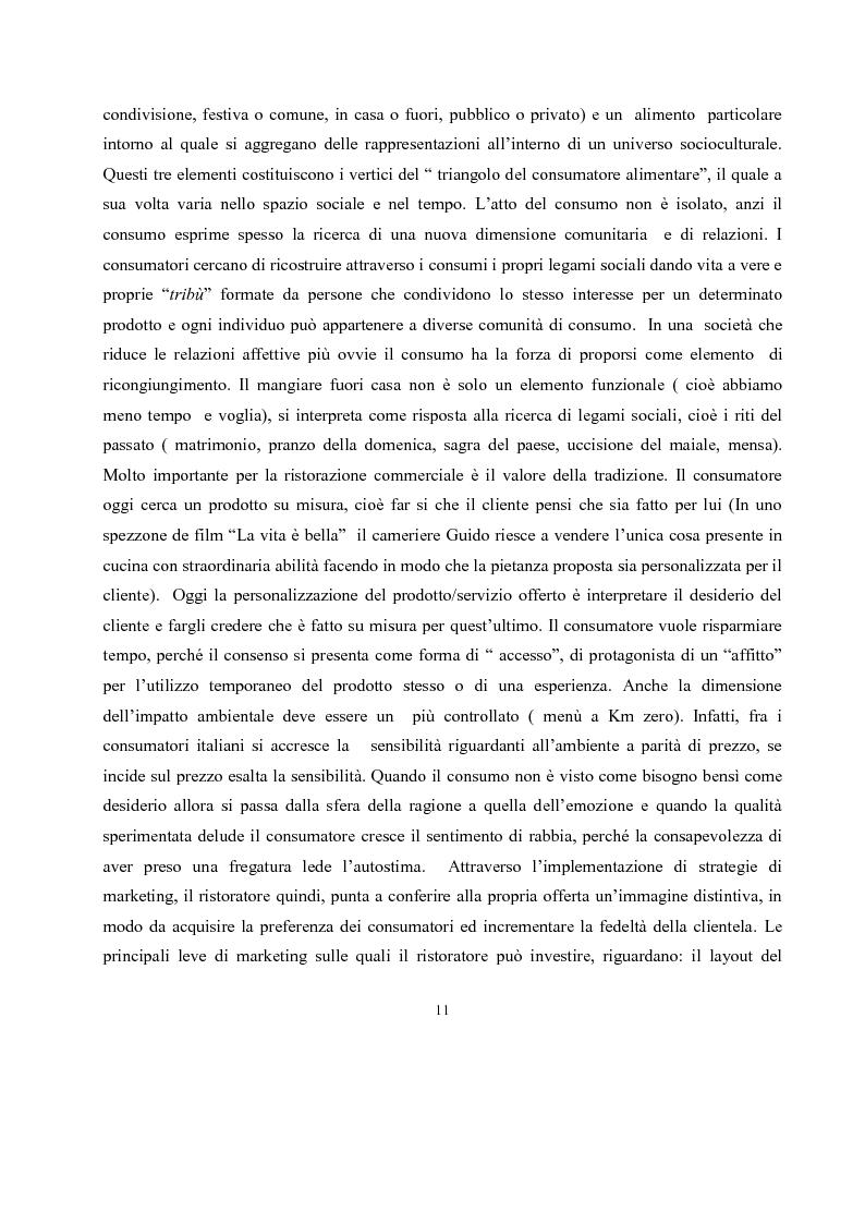 Anteprima della tesi: IL governo di un'impresa di ristorazione: il ruolo del Gastronomo nell'azienda ''Ombre Rosse'', Pagina 8