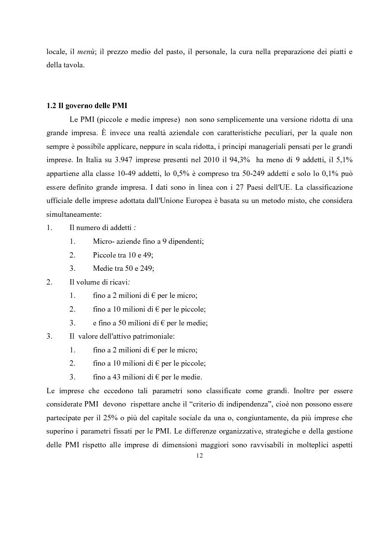 Anteprima della tesi: IL governo di un'impresa di ristorazione: il ruolo del Gastronomo nell'azienda ''Ombre Rosse'', Pagina 9