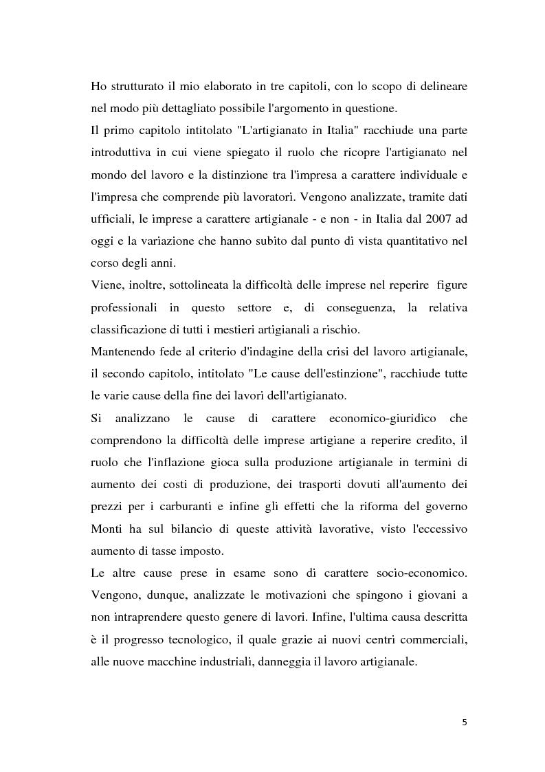 Anteprima della tesi: Estinzione del lavoro artigianale, Pagina 3