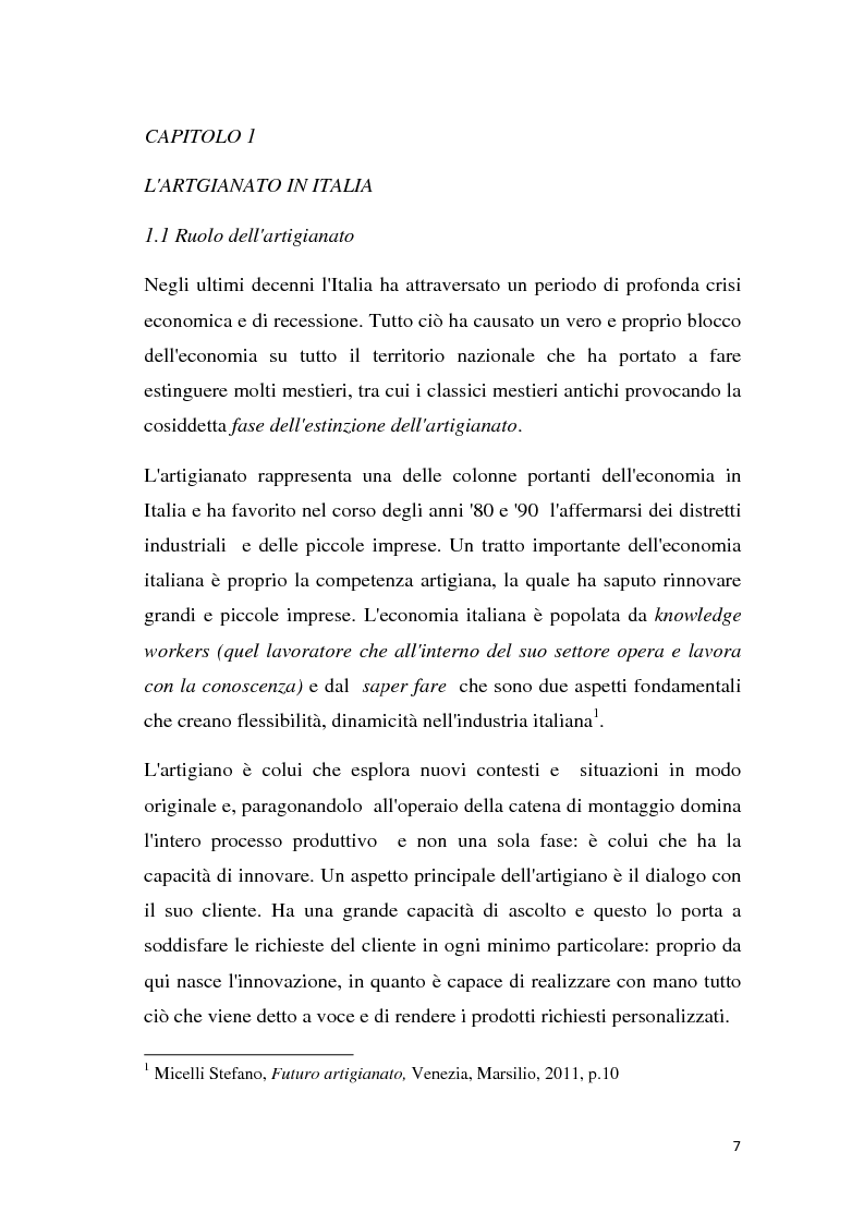 Anteprima della tesi: Estinzione del lavoro artigianale, Pagina 5