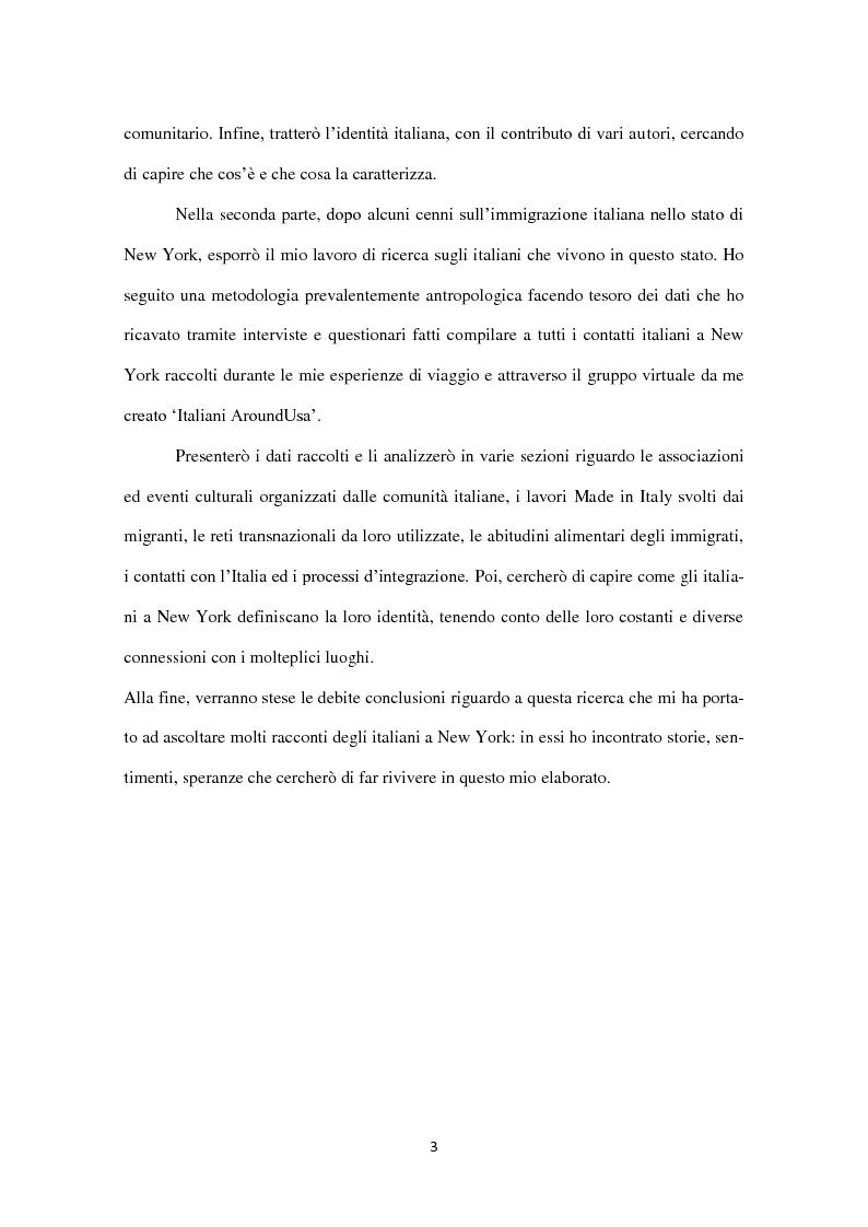 Anteprima della tesi: Identità in diaspora: italiani a New York, Pagina 3