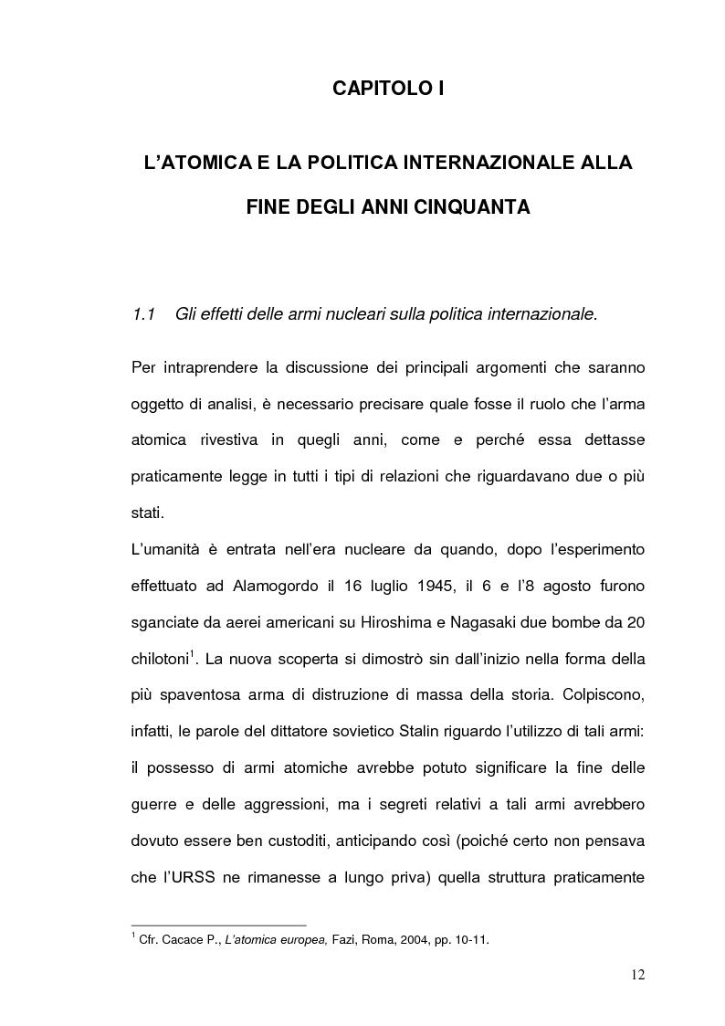 Anteprima della tesi: La Strategia Nucleare in Europa negli anni Sessanta, Pagina 11