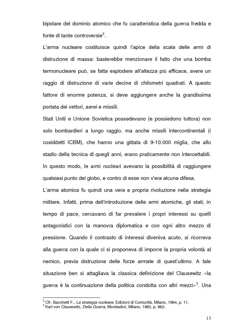 Anteprima della tesi: La Strategia Nucleare in Europa negli anni Sessanta, Pagina 12