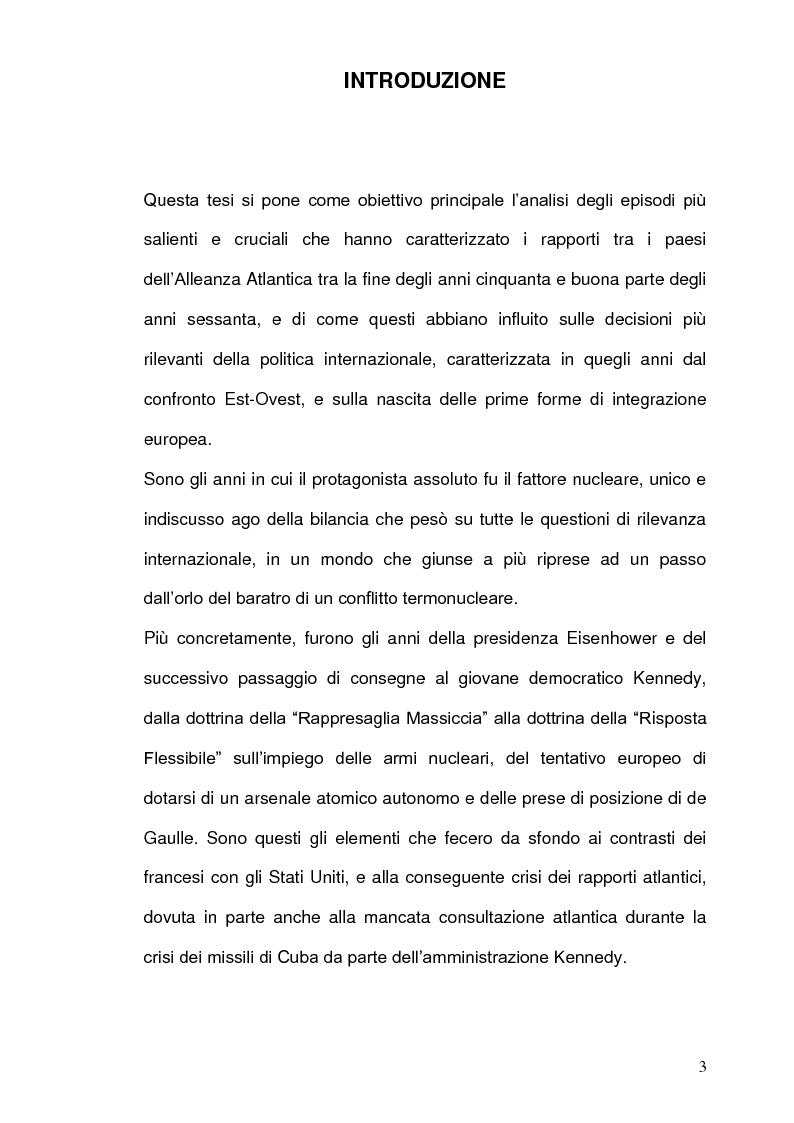 Anteprima della tesi: La Strategia Nucleare in Europa negli anni Sessanta, Pagina 2