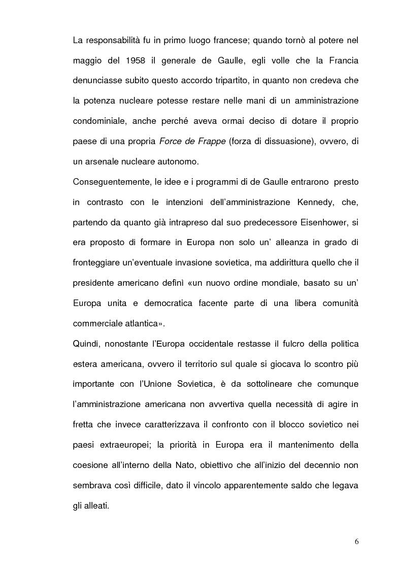Anteprima della tesi: La Strategia Nucleare in Europa negli anni Sessanta, Pagina 5