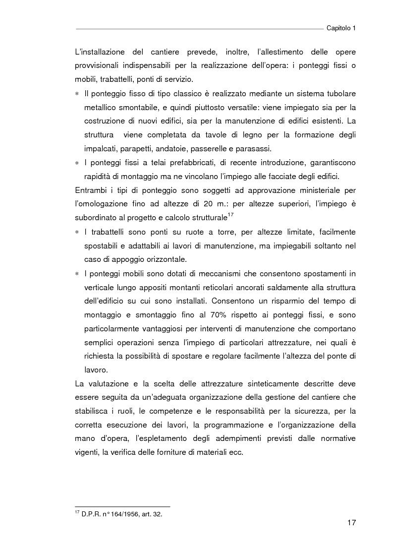 Anteprima della tesi: Il progetto della sicurezza nei cantieri edili. Analisi dell'iter legislativo e verifiche di fattibilità, Pagina 12