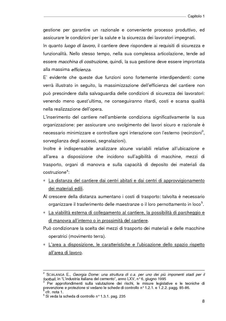 Anteprima della tesi: Il progetto della sicurezza nei cantieri edili. Analisi dell'iter legislativo e verifiche di fattibilità, Pagina 3