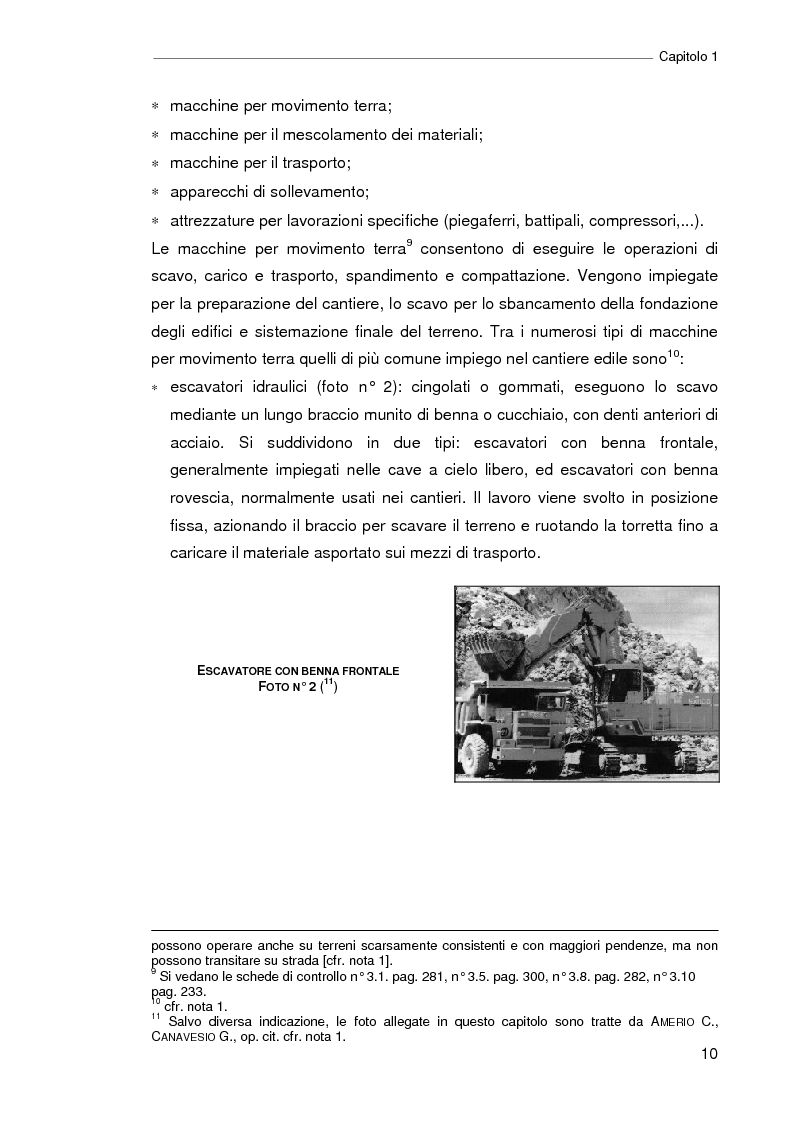 Anteprima della tesi: Il progetto della sicurezza nei cantieri edili. Analisi dell'iter legislativo e verifiche di fattibilità, Pagina 5