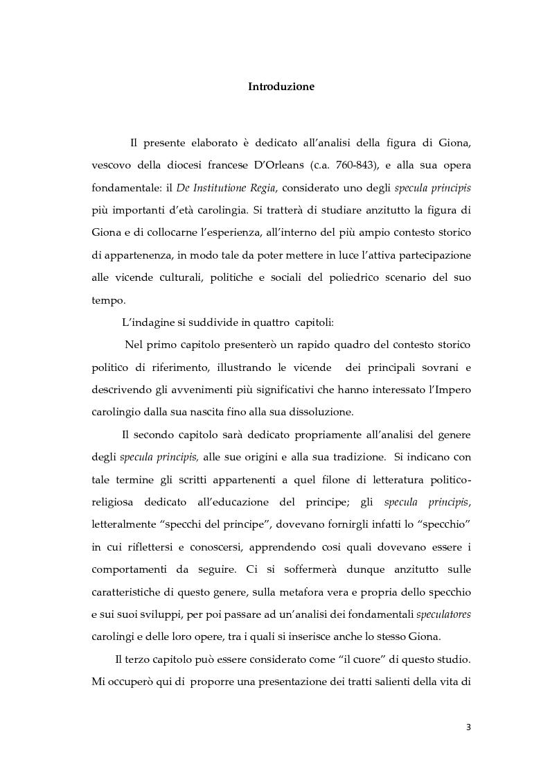 Anteprima della tesi: Giona D'Orleans nella tradizione degli specula principis d'età carolingia, Pagina 2