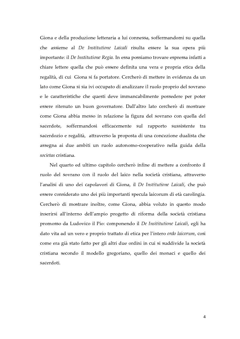 Anteprima della tesi: Giona D'Orleans nella tradizione degli specula principis d'età carolingia, Pagina 3