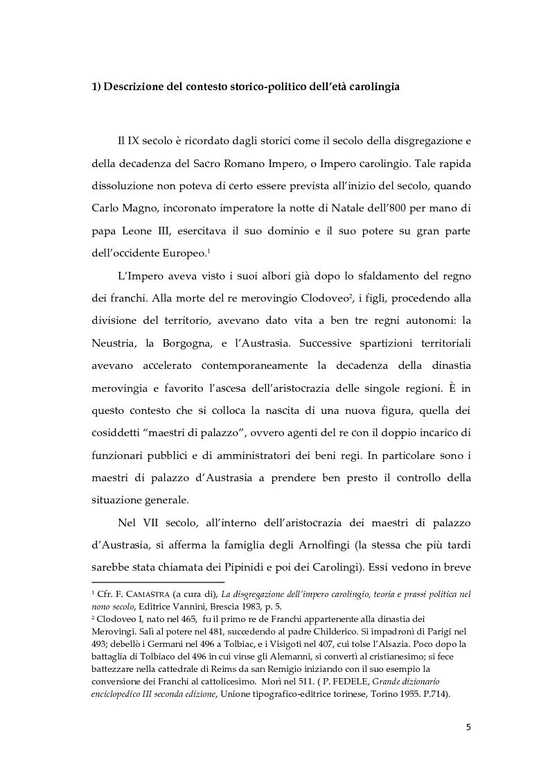 Anteprima della tesi: Giona D'Orleans nella tradizione degli specula principis d'età carolingia, Pagina 4