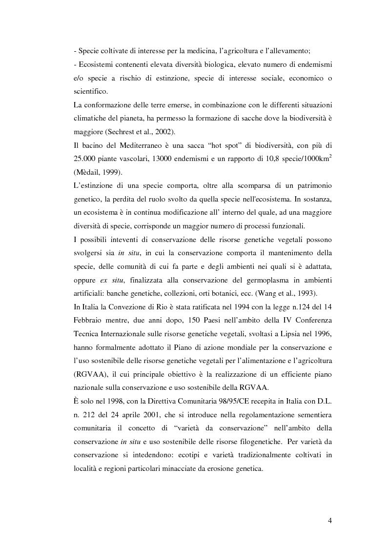 Anteprima della tesi: Biodiversità molecolare in ecotipi di cicerchia (Lathyrus sativus L.), Pagina 3