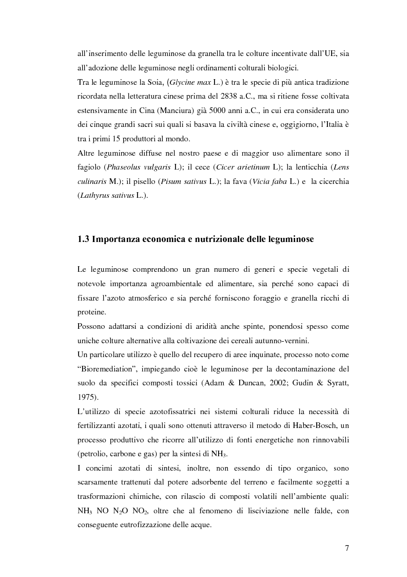 Anteprima della tesi: Biodiversità molecolare in ecotipi di cicerchia (Lathyrus sativus L.), Pagina 6